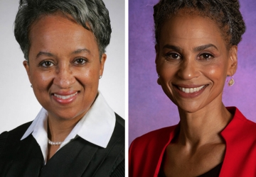 Photos of Lisa White Hardwick and Maya Wiley '89