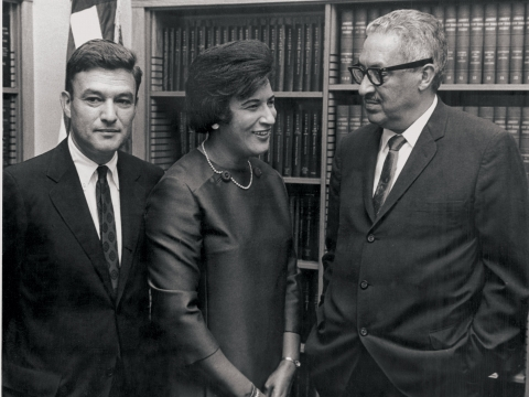Jack Greenberg, Constance Baker Motley, and Thurgood Marshall