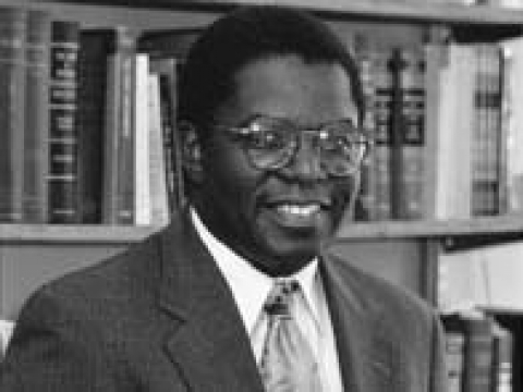 Professor Kellis E. Parker black and white portrait crop