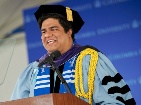 Pablo E. Zevallos '19, J.D. Class Speaker speaks at Graduation 2019