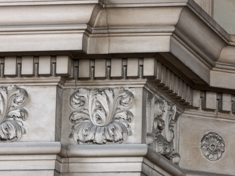 Acanthus architectural motifs inside Low Library