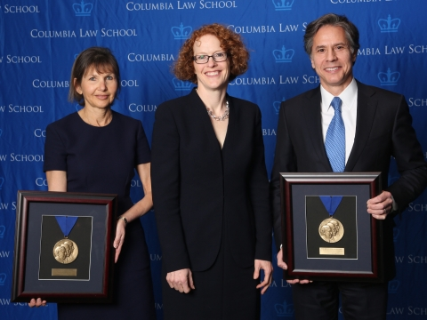2016 Medal for Excellence honorees Alison Ressler '83 and Antony Blinken '88