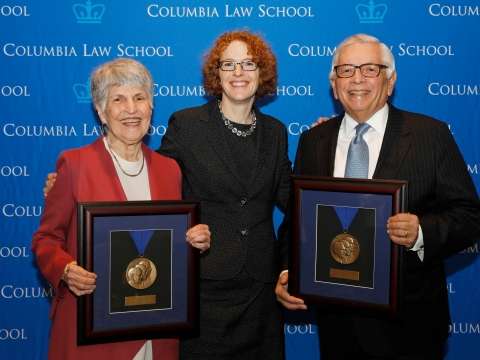 2017 Medal for Excellence honorees Judge Anita B. Brody '58 and David J. Stern '66