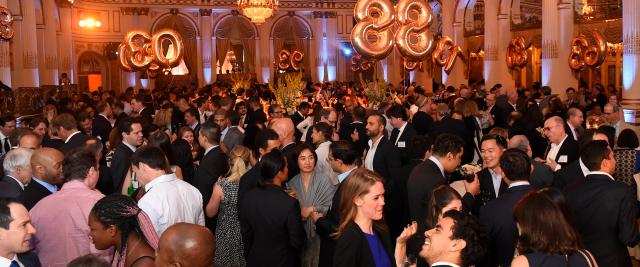 A crowded ballroom at Reunion 2018