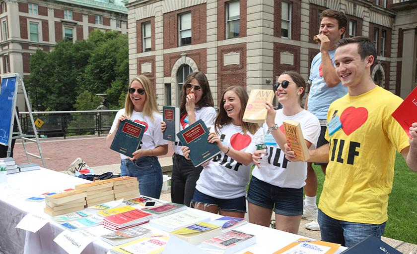 Students sell books at the PILF Book Sale