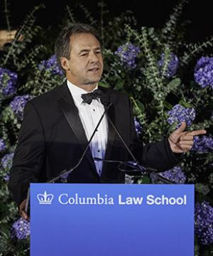 Gov. Stephen Bullock '94 of Montana at the Campaign for Columbia Law School gala