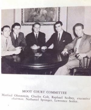 Yearbook photo of Raphael on Columbia Law Moot Court Committee
