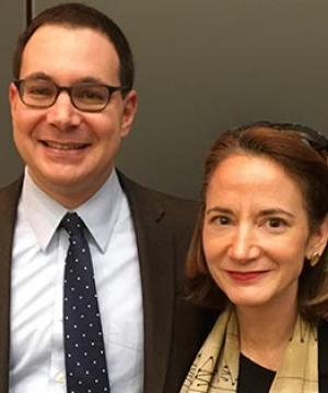 Professor Matt Waxman and Avril Haines at the Law School, November 2017