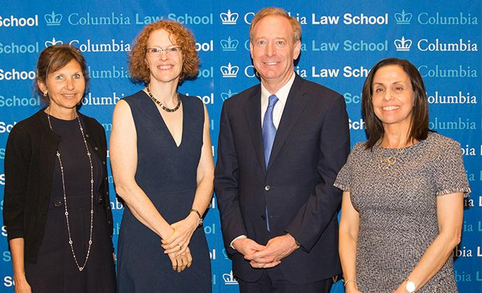 (Left to right) Alison Ressler, Dean Gillian Lester, Brad Smith, and Kathy Surace-Smith