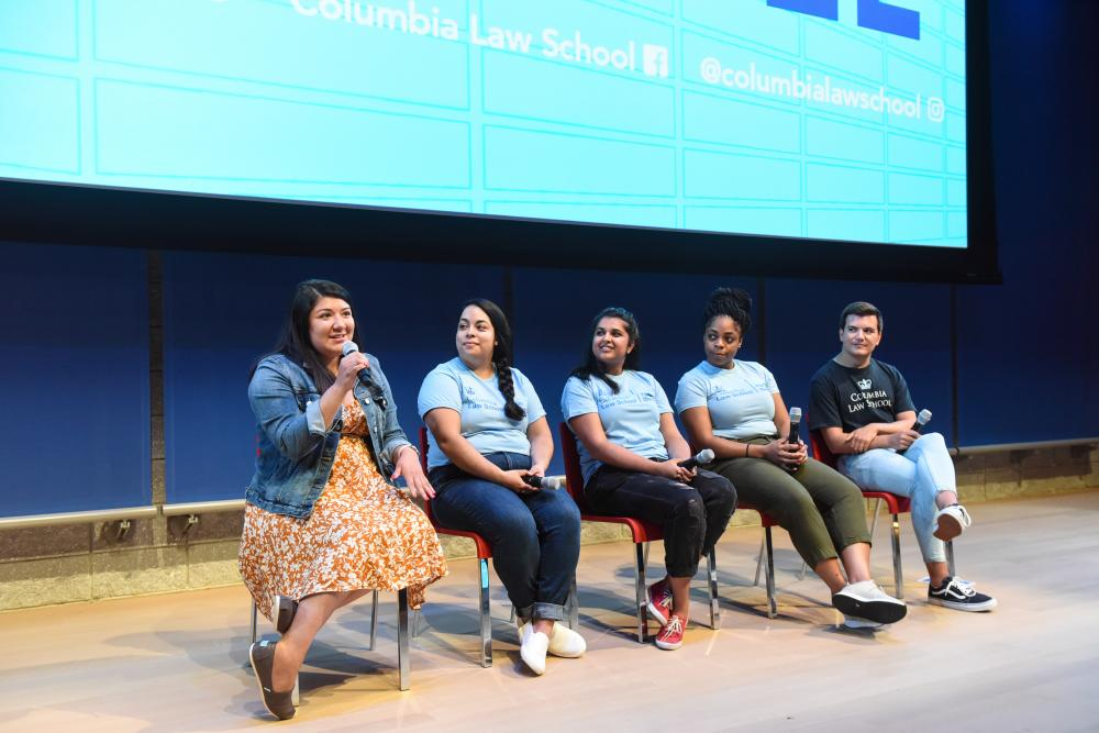 A panel of second- and third-year students discussed their experiences so far as Columbia Law School students.