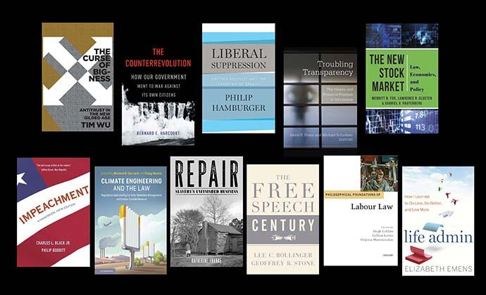 A selection of faculty book covers
