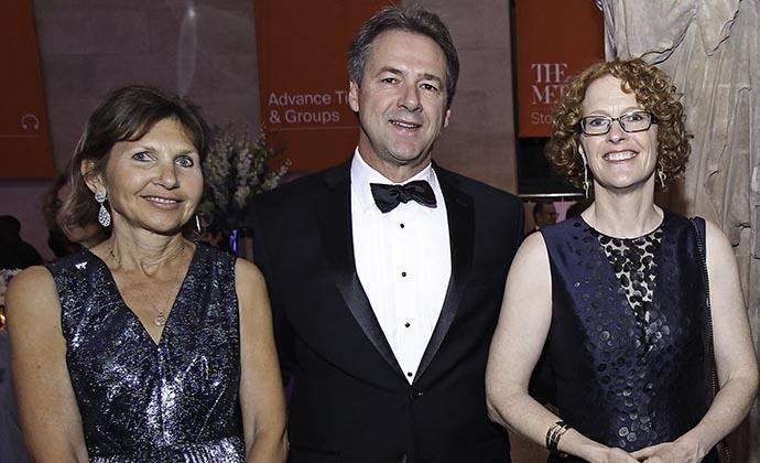 The Campaign for Columbia Law co-chair Alison Ressler '83, Montana Governor Stephen Bullock and Dean Gillian Lester at The Metropolitan Museum of Art