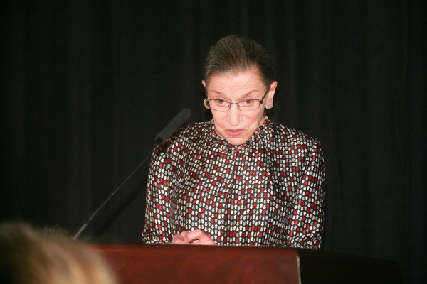 Ruth Bader Ginsburg speaks at the 2014 Supreme Court gala dinner.